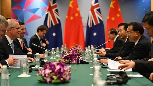 Much of Mr Morrison's talks yesterday centred around smoothing tensions between Australia's closest trade relations, including China.