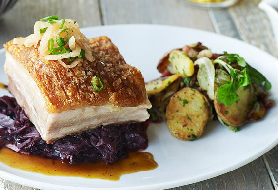 Bavarian Bier Café's roasted pork belly