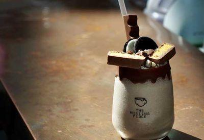 The Missing Piece's cookies & crunch milkshake