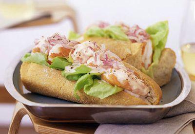 Lunch: Prawn cocktail sandwiches