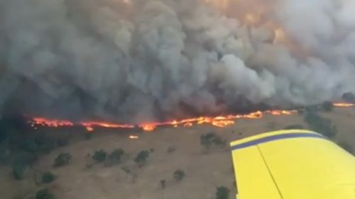 The fire near Dunedoo. (9NEWS)