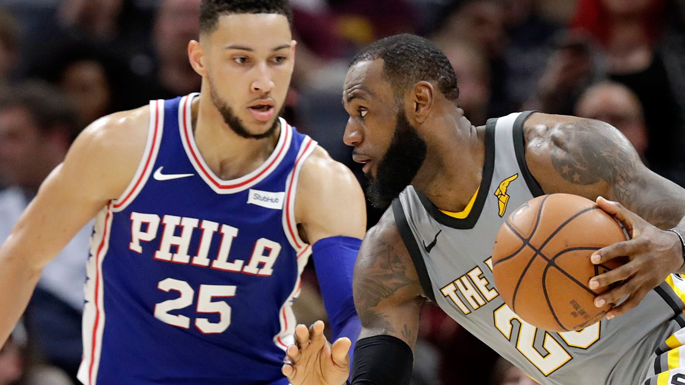 NBA: Philadelphia 76ers beat Cleveland Cavaliers as Ben Simmons faced off with mentor LeBron James