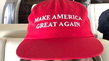Kanye West, hat, Make America Great Again, Twitter, post