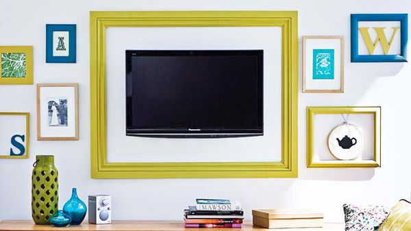 TV turned artwork
