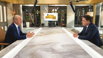 Self-made billionaire Lord Alan Sugar sits down with Karl Stefanovic