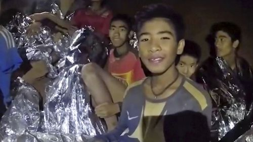 Trapped without any food for more than ten days, the boys' only source of sustenance came from water dripping down the cave walls. Picture: Supplied