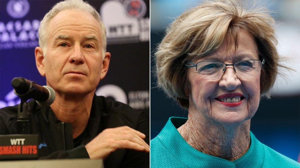John McEnroe makes light of Margaret Court furore over same-sex marriage