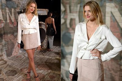 Is Brit model Lily Donaldson going to work or going to Chanel? We so confuse.