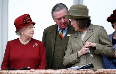 Queen Elizabeth II, Lord Samuel Vestey and Lady Celia Vestey attend day 4 'Gold Cup Day' of the Cheltenham Festival at Cheltenham Racecourse on March 13, 2009 in Cheltenham, England.