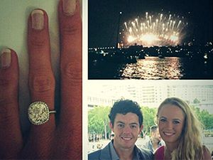 Caroline Wozniacki tweeted about her engagement to golf star Rory McIlroy (Twitter)
