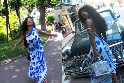 <b>Rihanna</b> posted these cheeky holiday snaps from a cruise on the Mediterranean to her Facebook fan page.