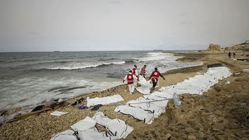 The bodies of 74 migrants have drowned in the Mediterranean trying to reach Europe. (AAP)