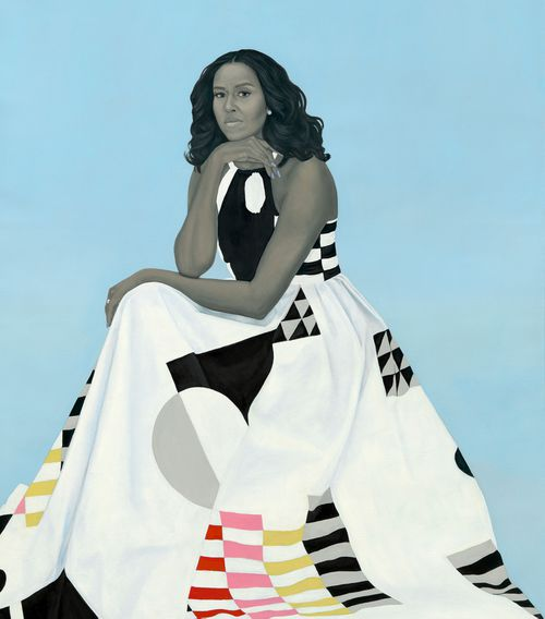 The official portrait of former first lady Michelle Obama.