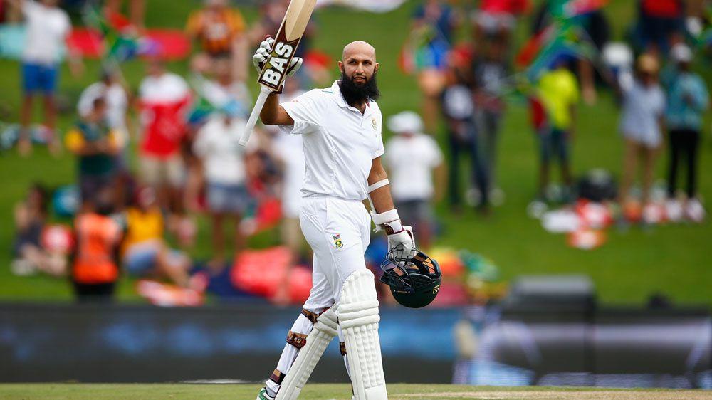 Hashim Amla celebrates his 25th Test century. (Getty)