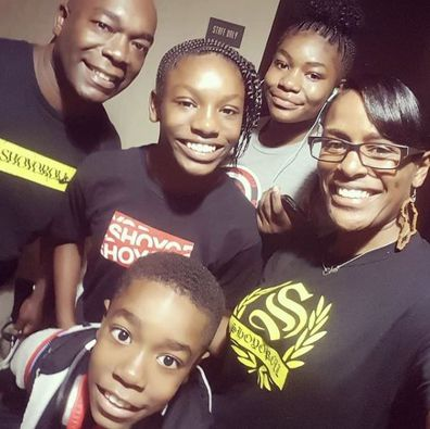 Sherise Blackman with her family.