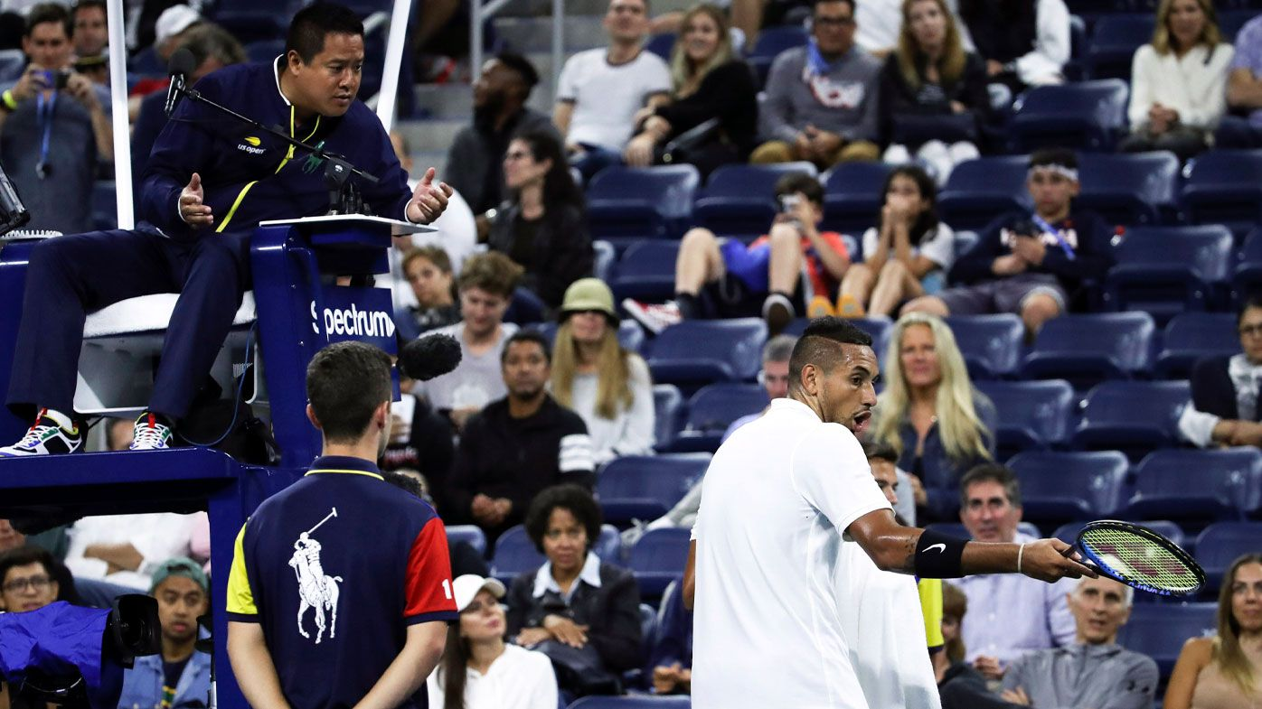 Kyrgios during his round one win