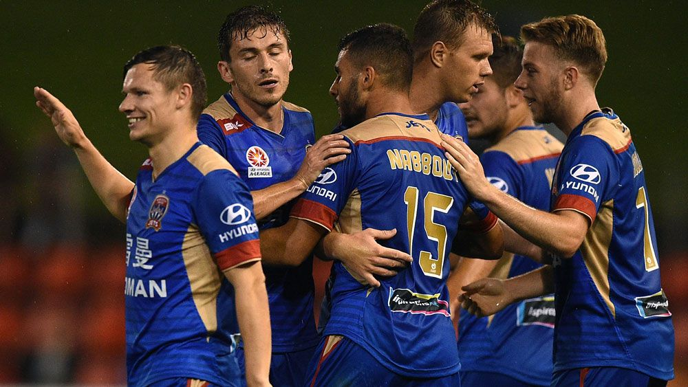 The Newcastle Jets are starting to make the league take notice. (AAP)