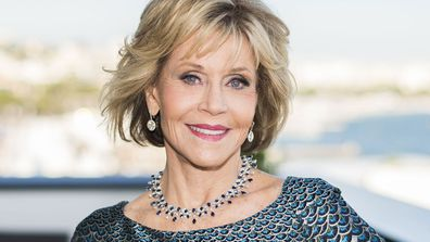 Actress Jane Fonda appears at the 71st international film festival in Cannes, southern France, on May 12, 2018