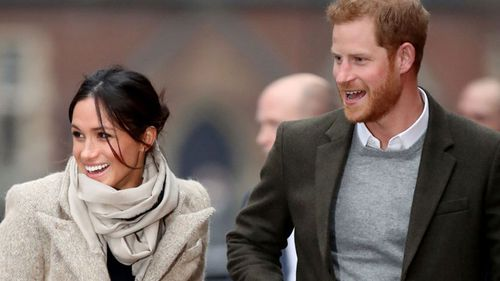The radio station visit marks the couple's second official outing together. (Getty)