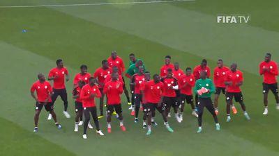World Cup: Senegal entertain with unique warm-up dance routine before Japan match
