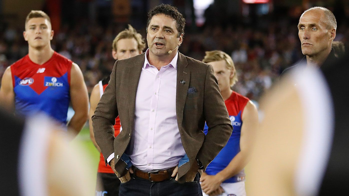 'He'll be watching': Garry Lyon's stirring speech in honour of Danny Frawley before 'Spud's Match'