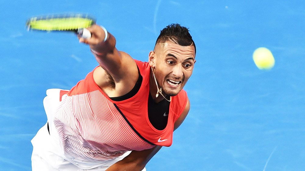 Kyrgios coasts in opener at Melbourne Park