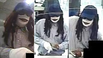 A man who wrapped himself in white bandages before robbing a Texan bank on Friday the 13th has been dubbed the