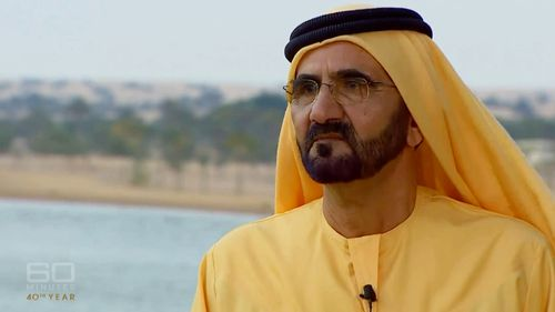 Sheikh Mohammed is under pressure to reveal the whereabouts of his daughter. Picture: 60 Minutes