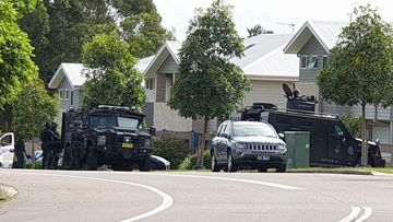 A police operation is underway in Maryland, Newcastle.
