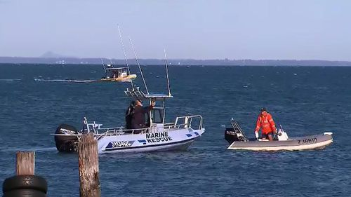 Water police, coast guard and civilian watercraft have been deployed to help find Mr Kelly.