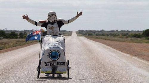 Stormtrooper costume saves Australian man in battle with deadly brown snake
