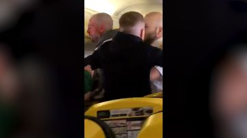 Man's nose bitten off during brawl on UK passenger jet