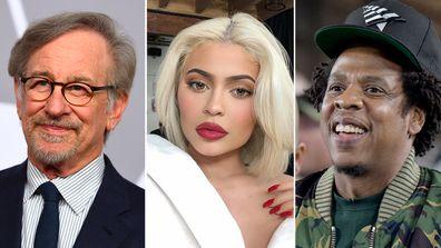 Steven Spielberg, Kylie Jenner and Jay-Z