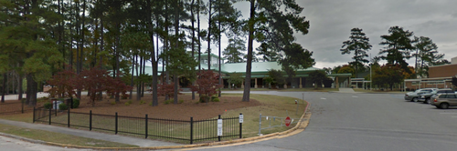 AC Flora High School, where the younger Roof was arrested for bringing weapons to school. (Google Street View)