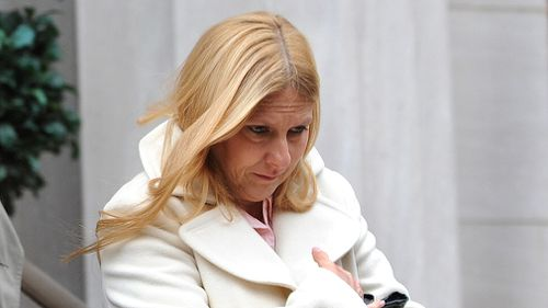 John Giuca's mother Doreen Giuliano leaves the courthouse on December 11, 2008. (Getty)