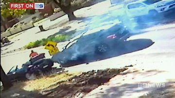 VIDEO: Melbourne tradies wrestle car thief