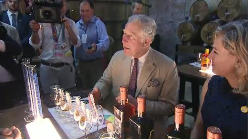 "Charles said the rum had ""fruit cake"" overtones."