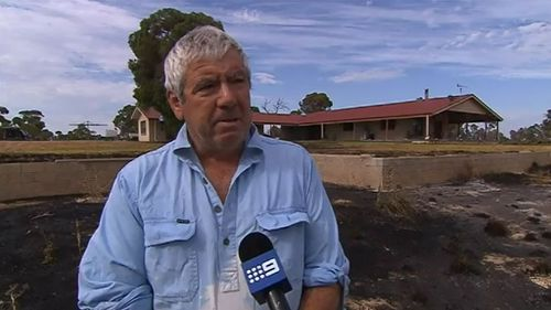 Andrew Nicholson feels humbled that local residents saved his home despite him only moving in two weeks ago. (9NEWS)