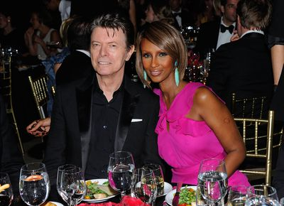<p>Iman gave birth at 45.</p> <p>The Somalian-born model had a child from her previous marriage, but gave birth to daughterAlexandria Zahra Jones with David Bowie in 2000, at 45 years of age.</p>