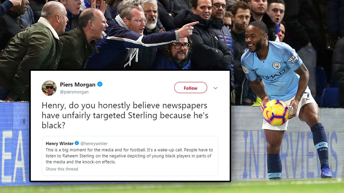 Manchester City striker Raheem Sterling prompts debate over whether UK media 'fuel racism' after Chelsea incident