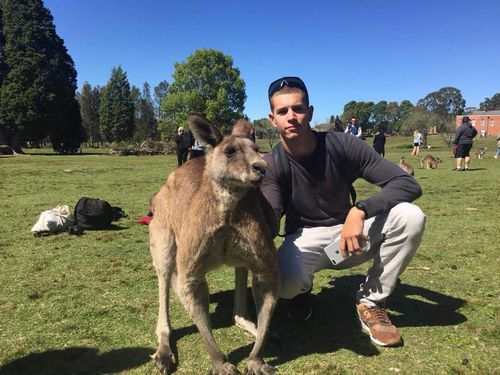 Jonathan Prhrn says he is a professional BASE jumper, pictured on Facebook visiting Australian sites on his travels Down Under.