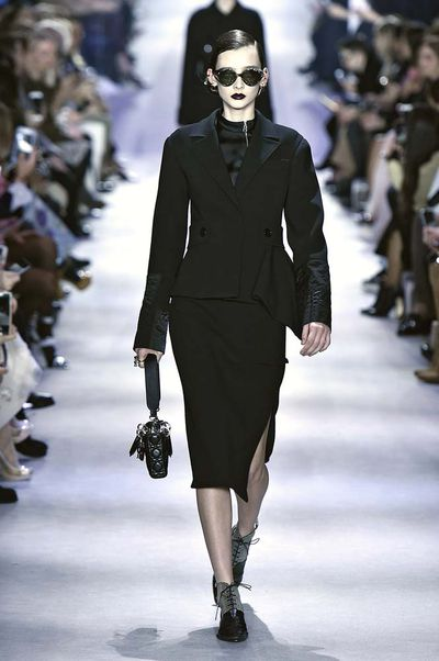 Dior's first collection without Raf Simons went back to basics with a lean silhouette, a black palette and lots of lust-worthy pieces.