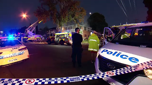 Emergency services had to evacuate two neighbouring homes after a fierce blaze in Merrylands West this morning.