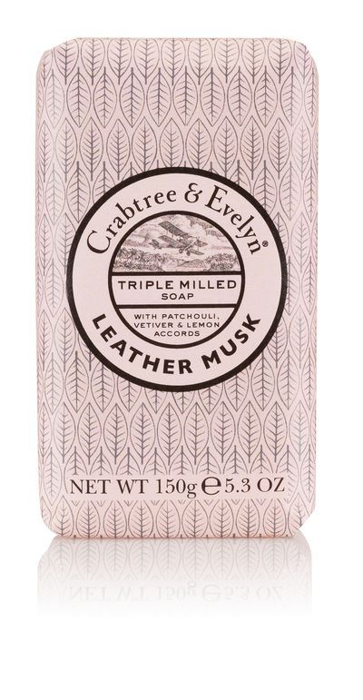 """<a href=""""https://www.crabtree-evelyn.com.au/c-2-soap.aspx"""">Crabtree &amp; Evelyn Leather and Musk Soap, $12, crabtree&amp;evelyn.com.au</a>"""