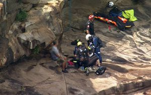 Rescue operation underway after woman falls from cliff on Sydney's northern beaches