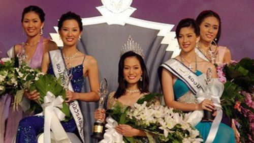 Nusara Suknamai was crowned runner-up in 2005 Miss Thailand Universe.