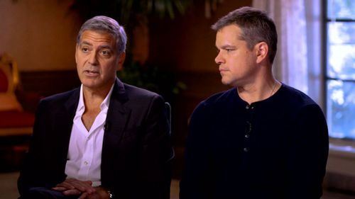 George Clooney and Matt Damon spoke to ABC News about Weinstein.