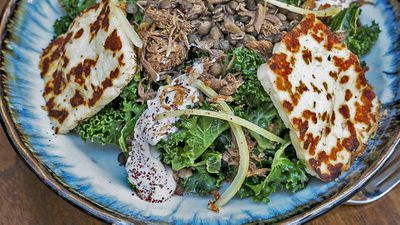 "Recipe: <a href=""http://kitchen.nine.com.au/2017/10/20/09/49/wild-sages-lamb-haloumi-and-lentil-salad-recipe"" target=""_top"">Wild Sage's lamb, haloumi and lentil salad recipe</a>"