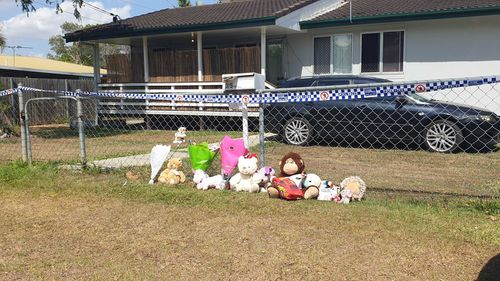 Tributes for the girls outside the home.