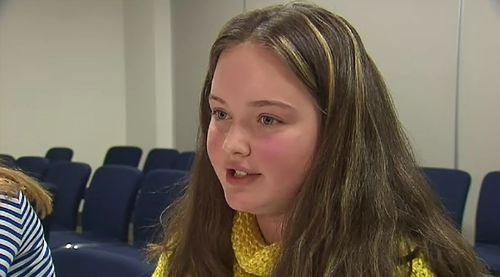 Anika Floris, 14, told 9NEWS she believes children are influenced by images of 'perfect' men and women who appear to be successful.